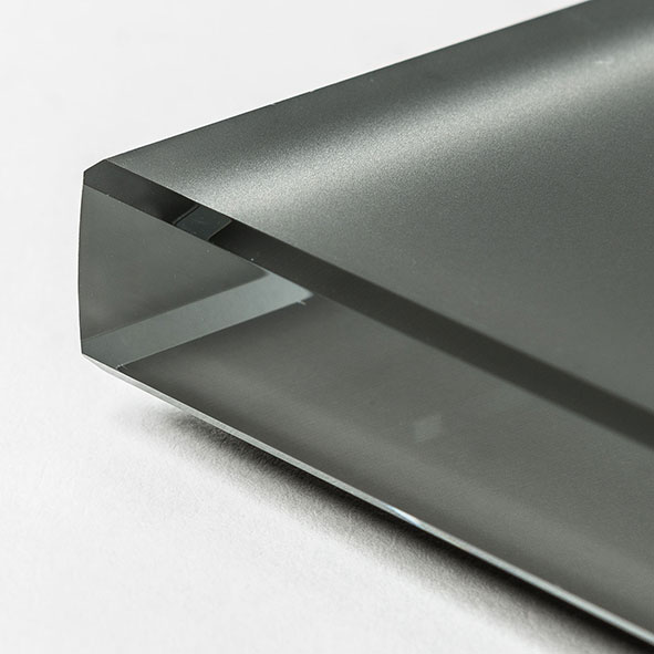 Extra clear frosted glass graphite painted